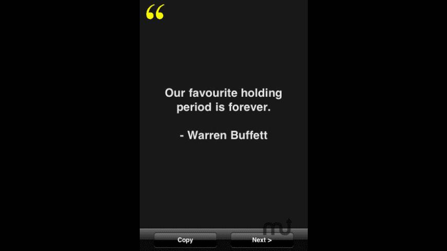 Warren Buffett Quotes for Mac - review, screenshots