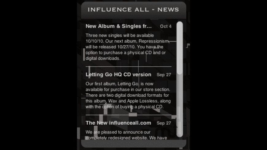 Influence All News Widget for Mac - review, screenshots