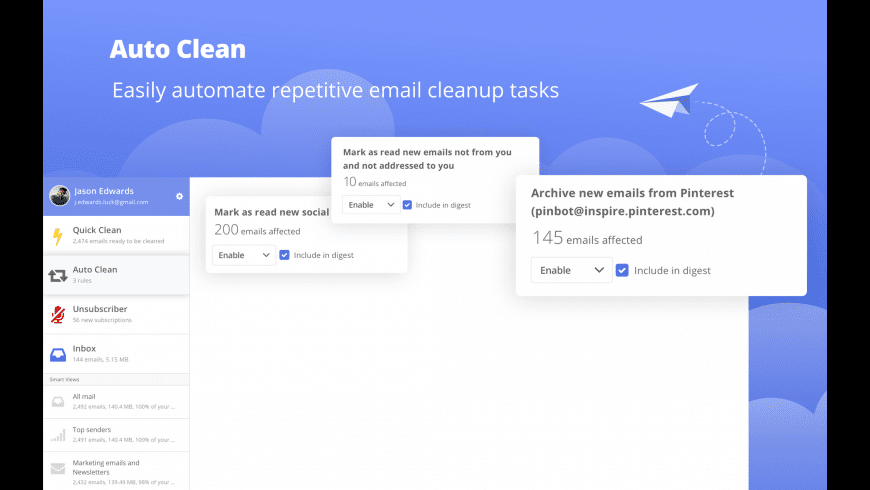 Clean Email for Mac - review, screenshots