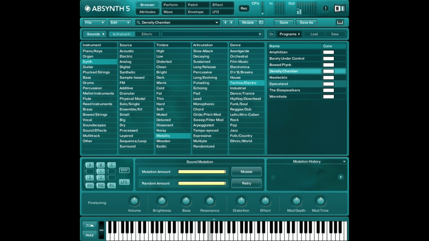 ABSYNTH for Mac - review, screenshots