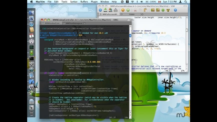 MacVim for Mac - review, screenshots