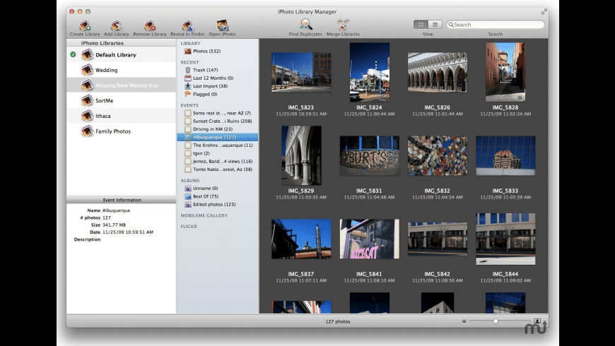 iPhoto Library Manager for Mac - review, screenshots