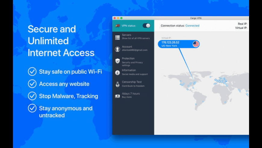 Cargo VPN for Mac - review, screenshots