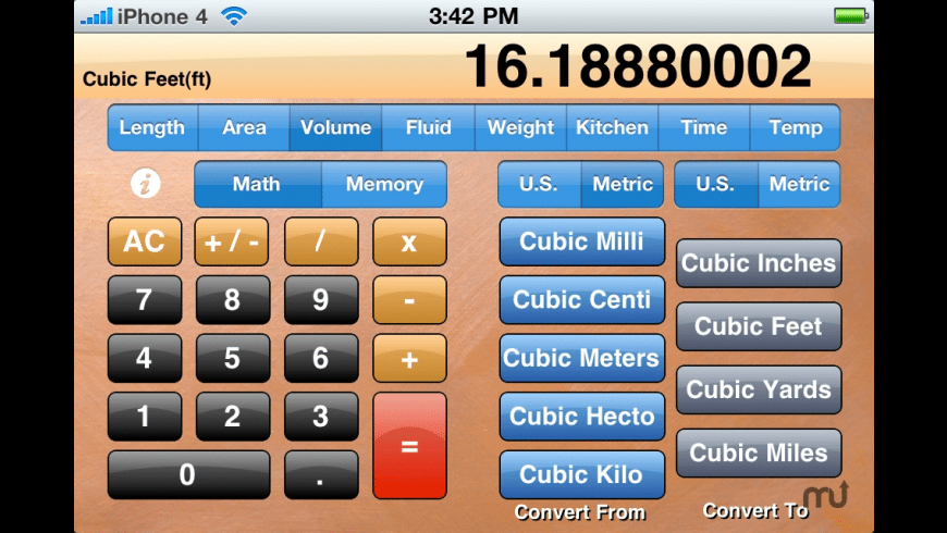 Standard Measurement Calculator for Mac - review, screenshots
