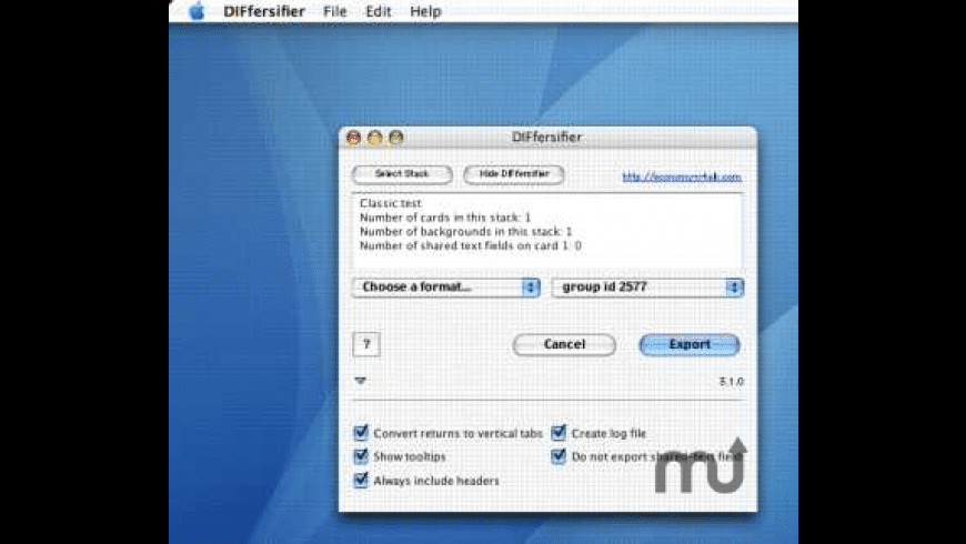 DIFfersifier for Mac - review, screenshots