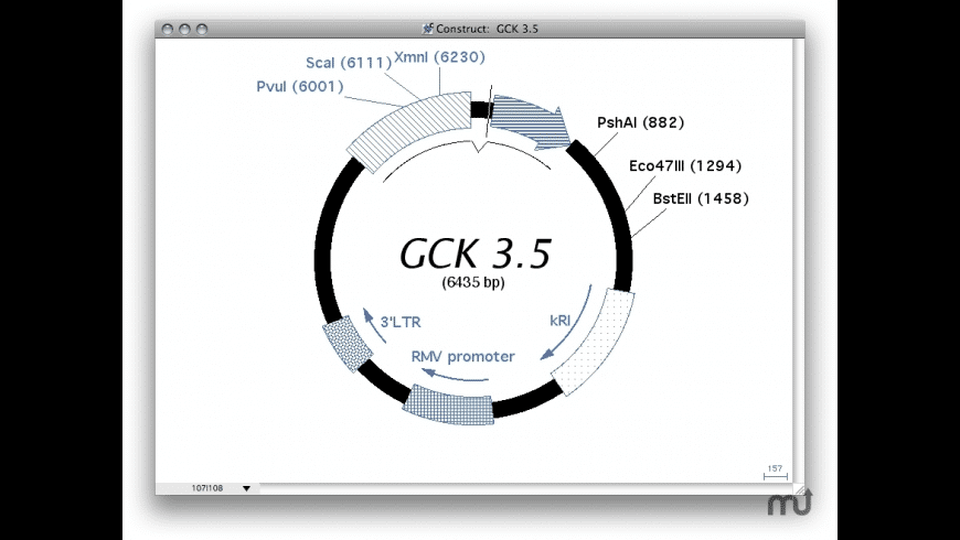 Gene Construction Kit for Mac - review, screenshots