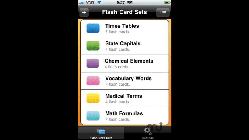 Easy Flash Cards for Mac - review, screenshots