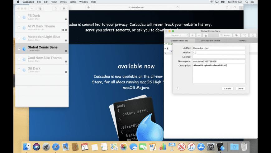 Cascadea for Mac - review, screenshots