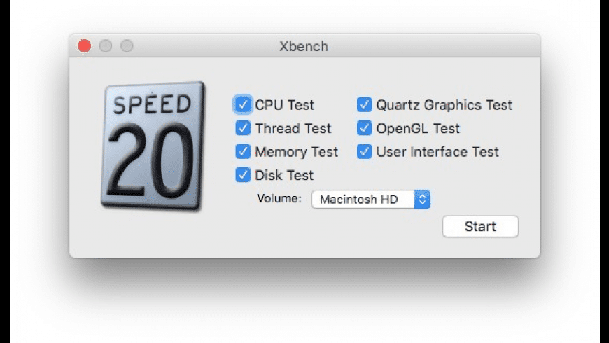 Xbench for Mac - review, screenshots