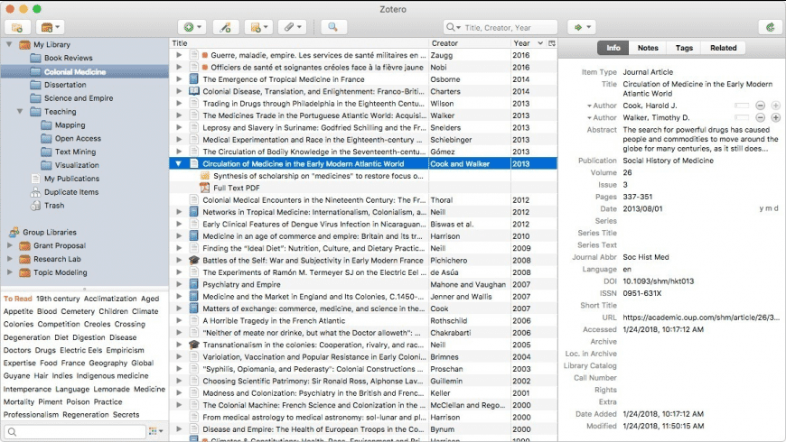 Zotero for Mac - review, screenshots