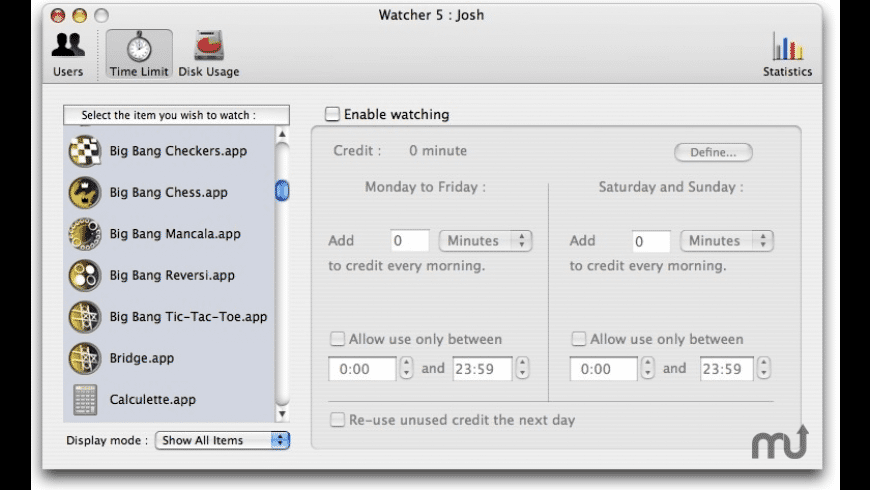Watcher for Mac - review, screenshots