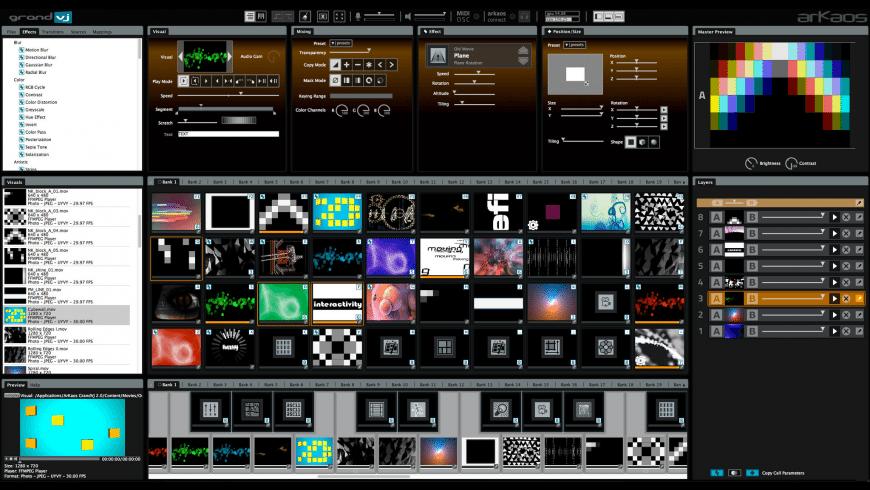 ArKaos GrandVJ for Mac - review, screenshots