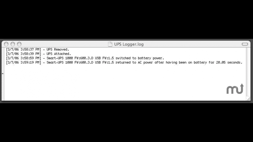 UPS Logger for Mac - review, screenshots