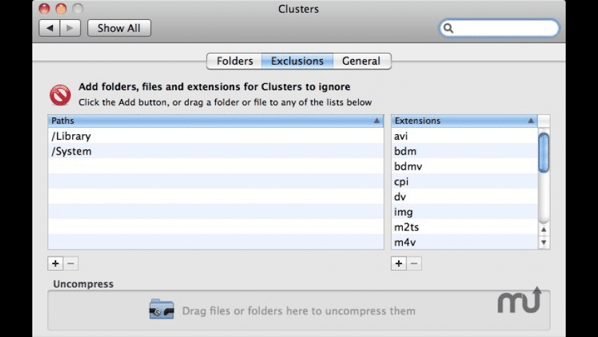 Clusters for Mac - review, screenshots