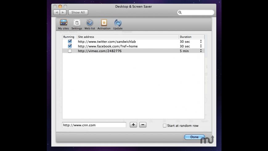 WebSaver for Mac - review, screenshots