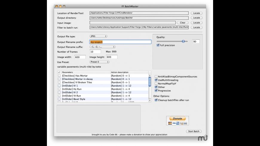 FFBatchMaster for Mac - review, screenshots