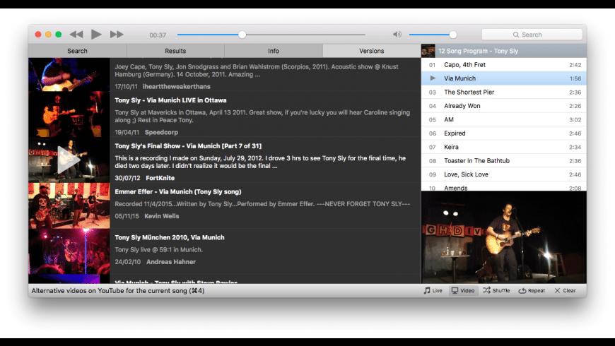 Musictube for Mac - review, screenshots