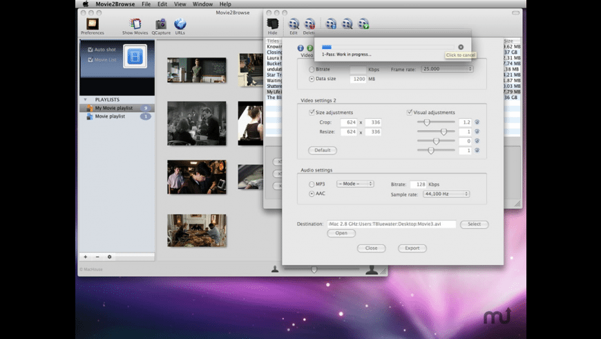 Movie2Browse for Mac - review, screenshots