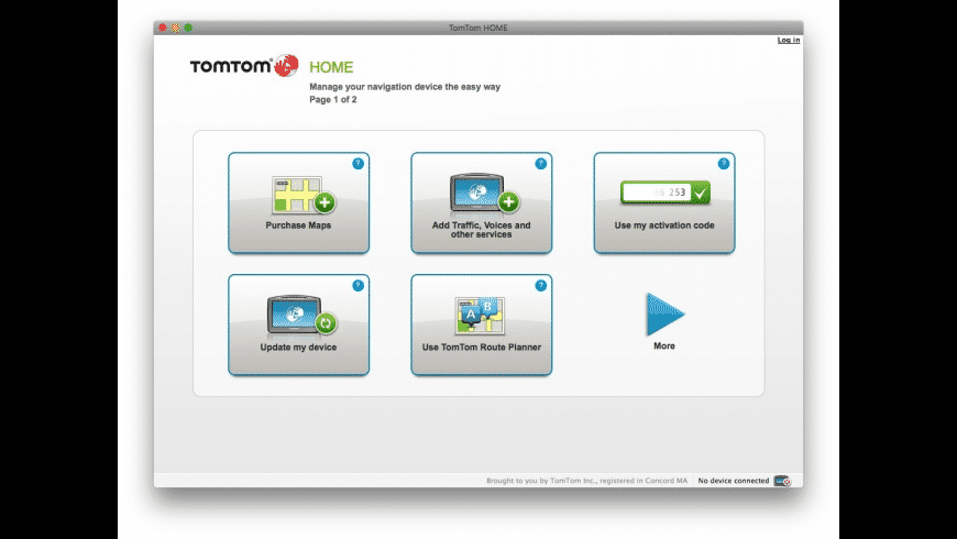 TomTom HOME for Mac - review, screenshots