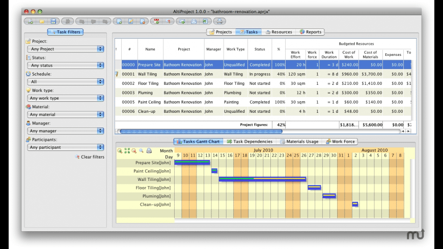 AltiProject for Mac - review, screenshots