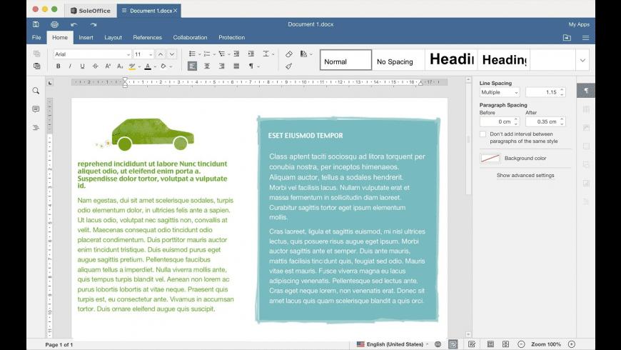 SoleOffice for Mac - review, screenshots