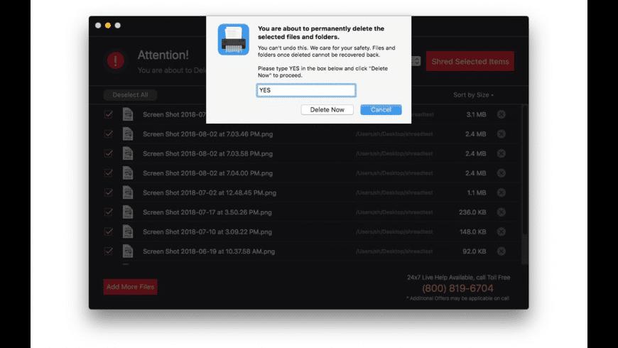 Files Shredder for Mac - review, screenshots