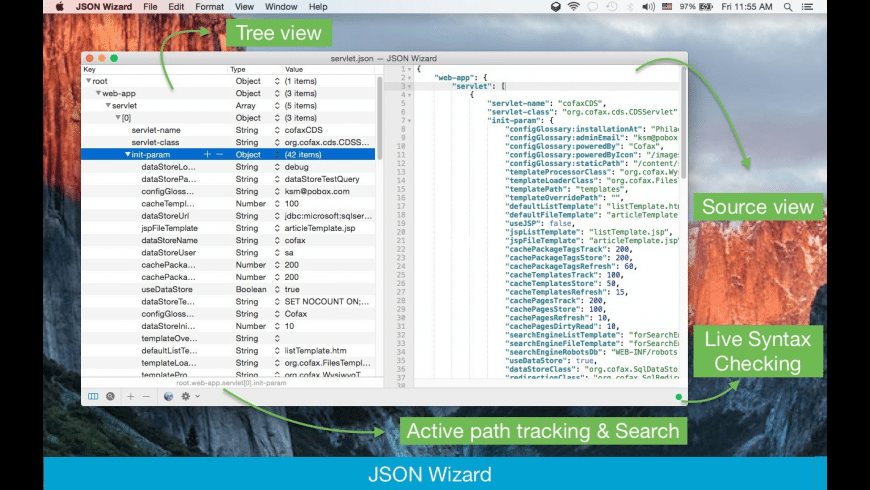 JSON Wizard for Mac - review, screenshots