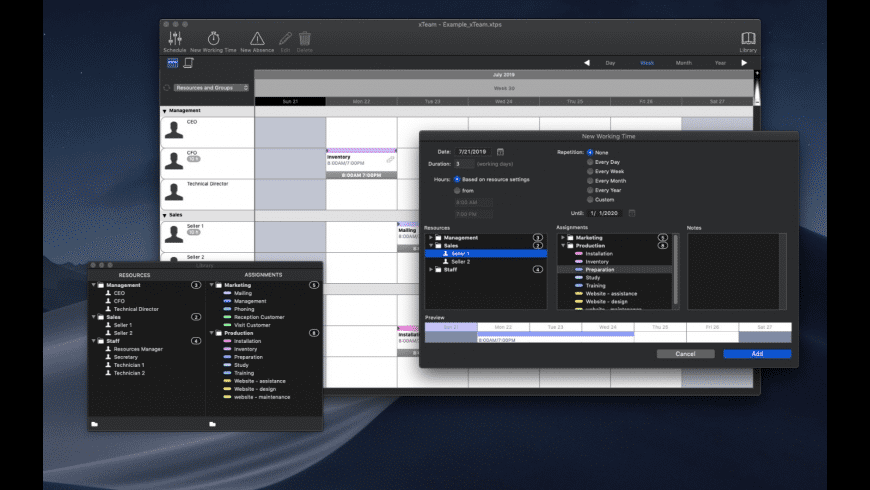 xTeam for Mac - review, screenshots