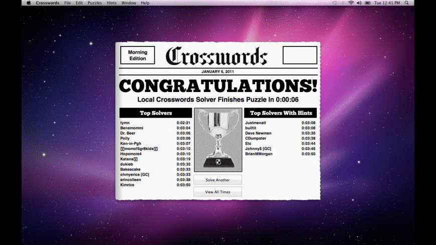 Crossword Light for Mac - review, screenshots