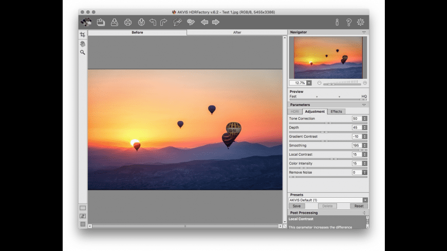 AKVIS HDRFactory Business for Mac - review, screenshots