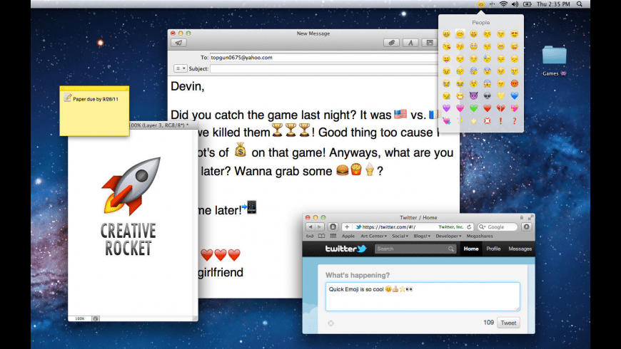 Quick Emoji HD for Mac - review, screenshots