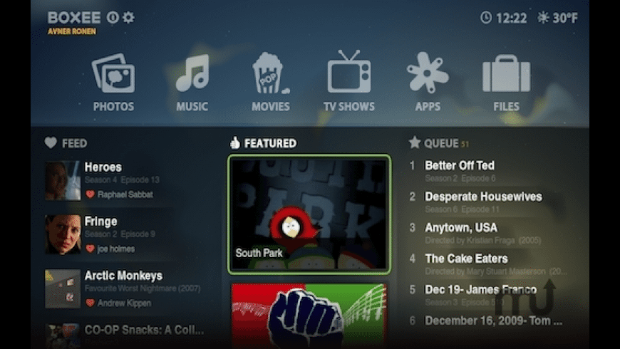 Boxee for Mac - review, screenshots