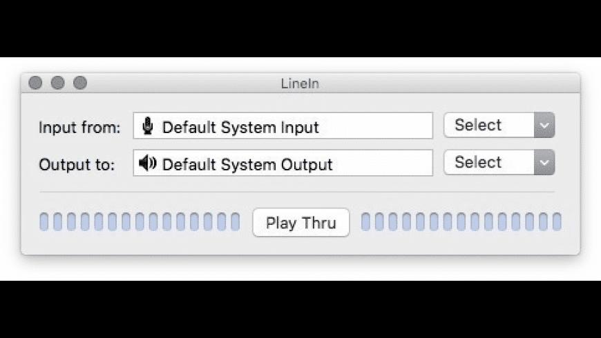 LineIn for Mac - review, screenshots