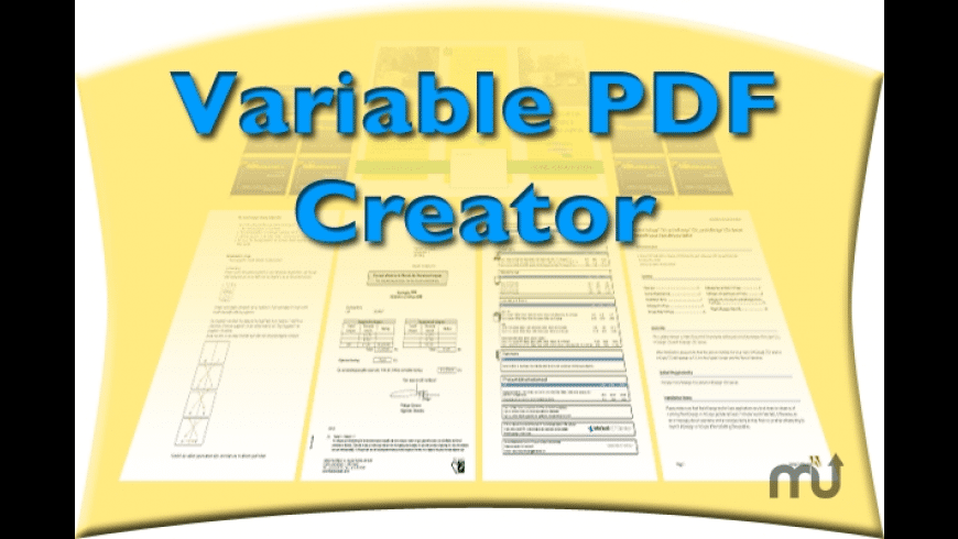 Variable PDF Creator for Mac - review, screenshots