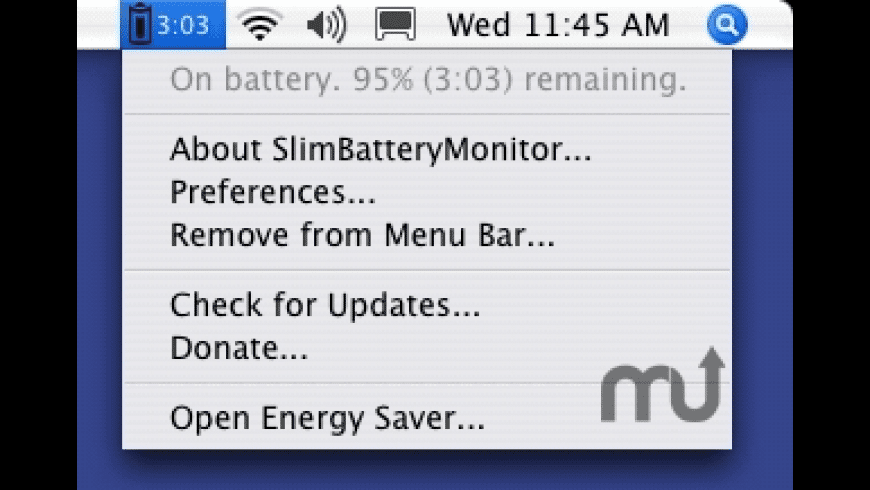 SlimBatteryMonitor for Mac - review, screenshots