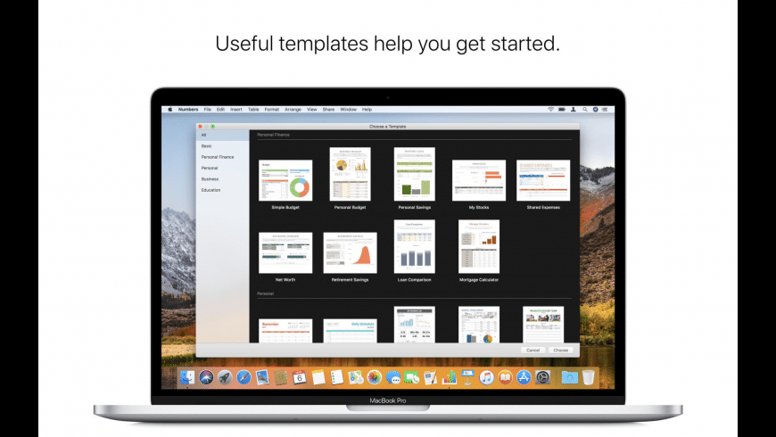 Numbers for Mac - review, screenshots