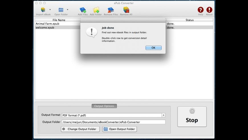 epub to pdf converter mac os x free