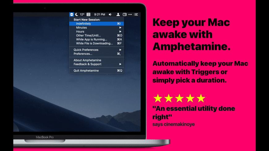 Amphetamine for Mac - review, screenshots