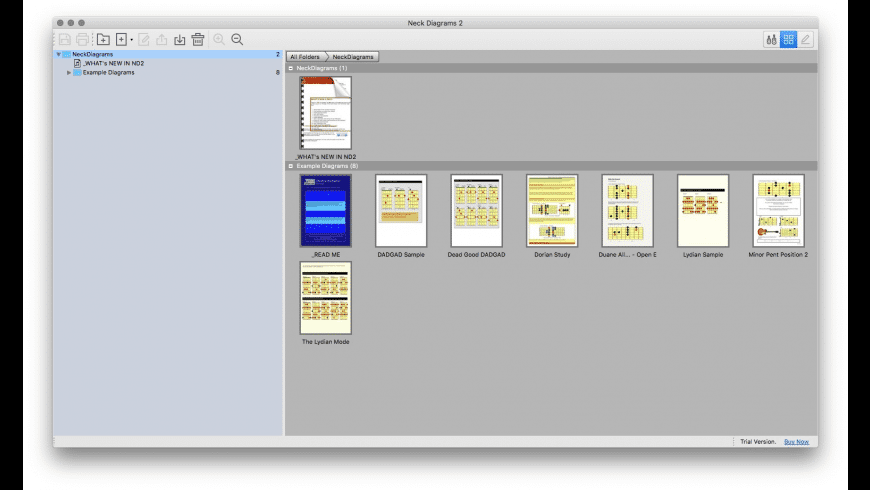 Neck Diagrams for Mac - review, screenshots