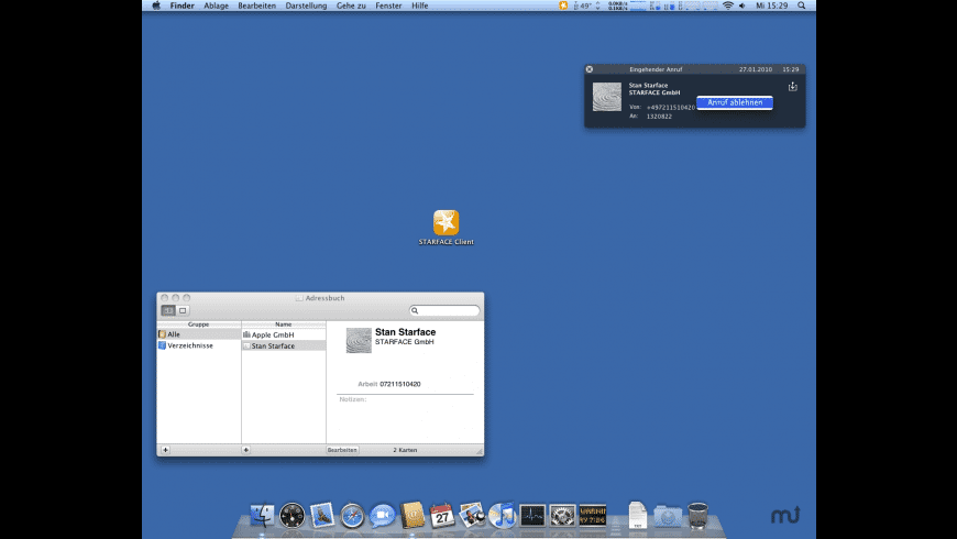 STARFACE Client for Mac - review, screenshots