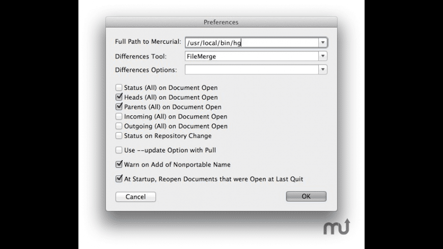 MacMercurial for Mac - review, screenshots