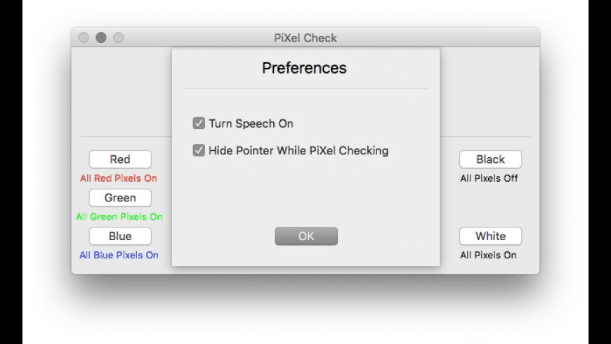 PiXel Check for Mac - review, screenshots