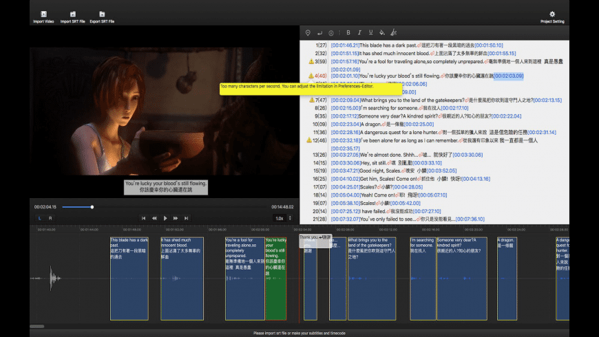 Subtitle Edit Pro for Mac - review, screenshots