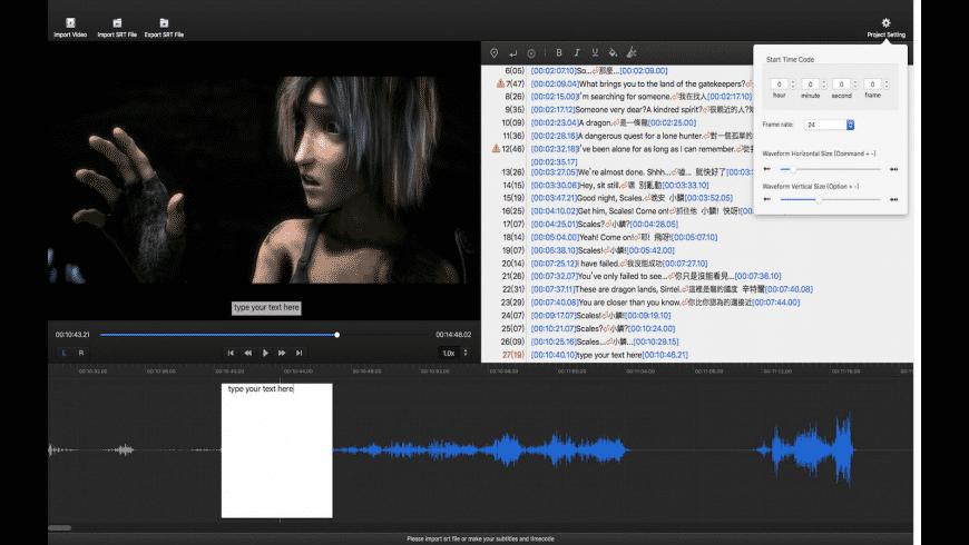 Subtitle Edit Pro for Mac - review, screenshots