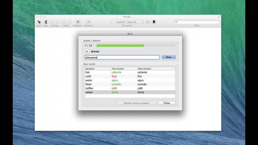 Vocab for Mac - review, screenshots