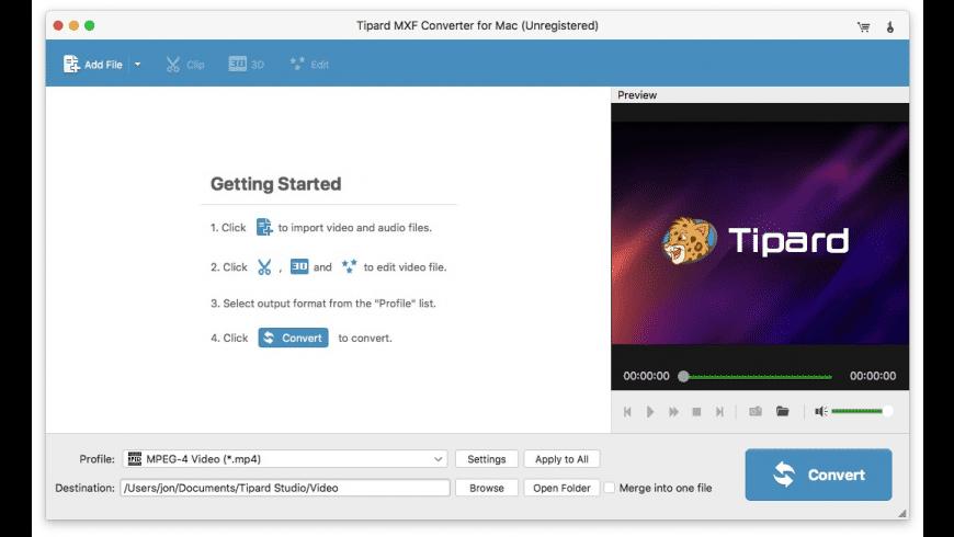 Tipard MXF Converter for Mac - review, screenshots