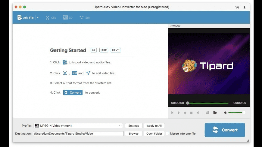 Tipard AMV Video Converter for Mac - review, screenshots