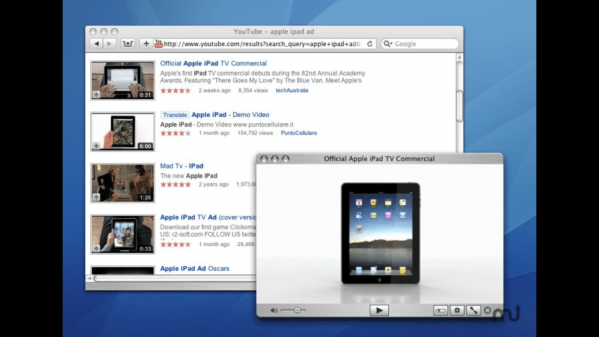 QuickTubePlayer for Mac - review, screenshots