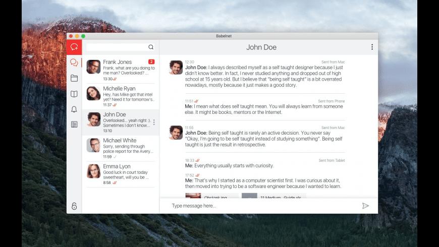 Babelnet for Mac - review, screenshots