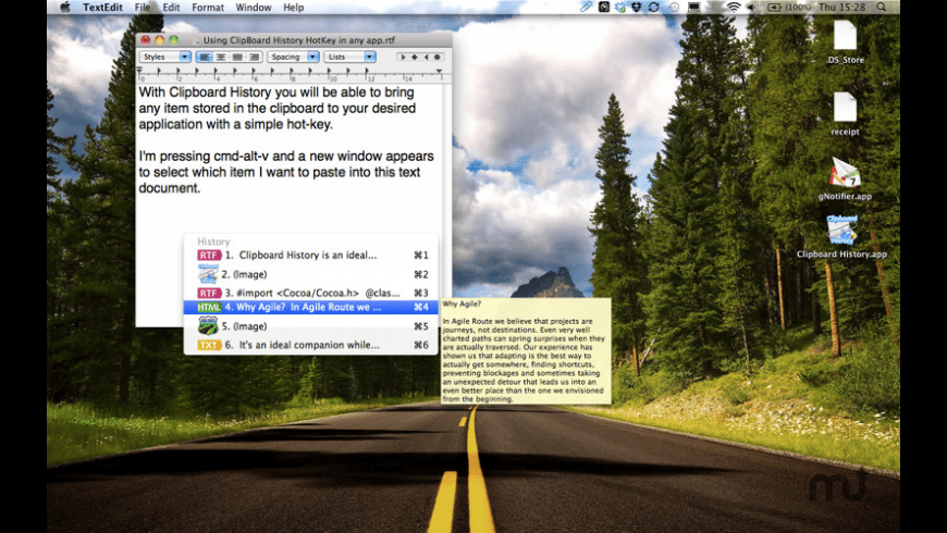 Clipboard History for Mac - review, screenshots